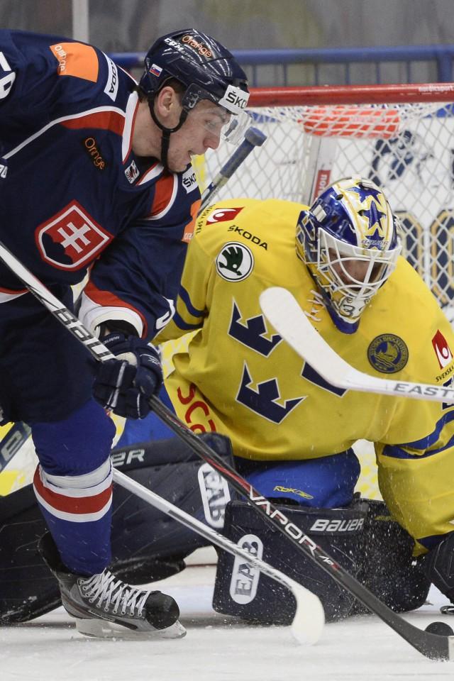 hokej-andrej-šťastný-pred-bránkou-Švédska
